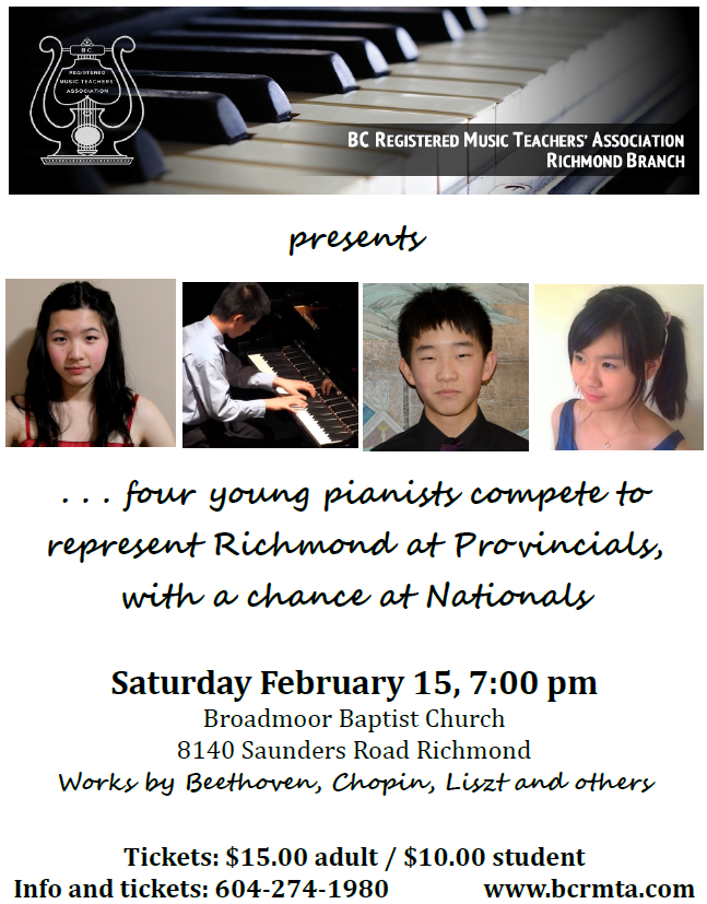BCRMTA Piano Competition