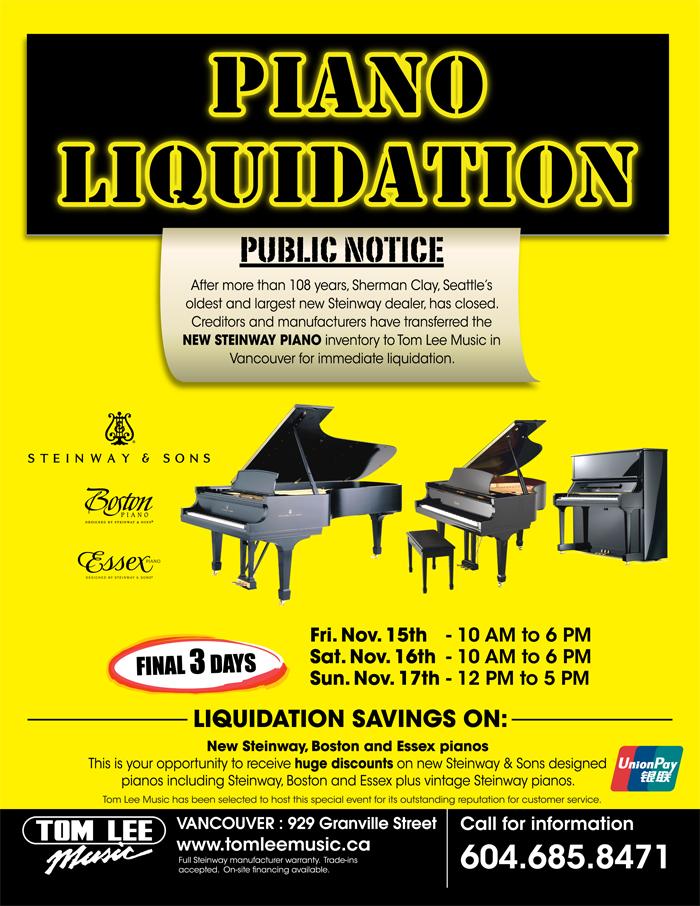 seattle steinway dealer sherman clay liquidation sale poster 201